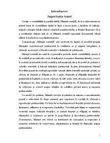 Conținutul și Modul de Întocmire a Bilanțului Contabil - Pagina 3