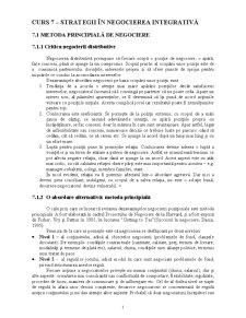 Curs 7 - Strategii în Negocierea Integrativă - Pagina 1