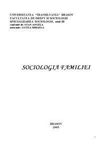Sociologia Familiei - Pagina 1