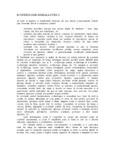 Ecofiziologie Animala - Pagina 1