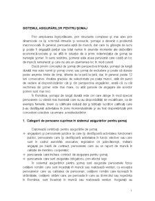Sistemul Asigurărilor pentru Șomaj - Pagina 1
