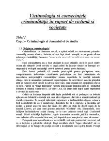 Victimologia și Consecințele Criminalității în Raport de Victimă și Societate - Pagina 3