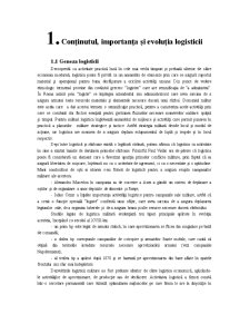Logistica in Comert - Pagina 1