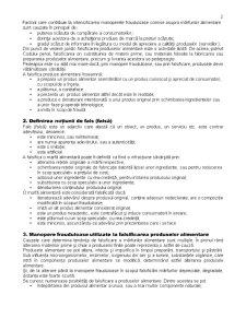 Manoperele Frauduloase Comise asupra Marfurilor Alimentare - Directii de Identificare si Prevenire - Pagina 2
