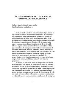 Ipoteze privind Impactul Emisiunilor Problematice - Pagina 1