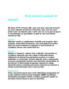 50 de Termeni Esentiali de Internet - Pagina 1