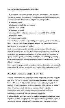 Proceduri de Instalare ale Unitatilor de Hard Disk - Pagina 1