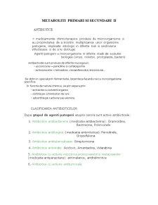 Metaboliti Primari si Secundari II - Pagina 1