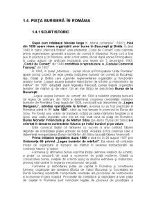 Piața Bursieră în România - Pagina 1