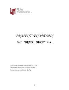 Proiect Economic - SC Geox Shop SA - Pagina 1