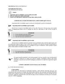 Lucrari Practice de Fiziologie Vegetala - Pagina 1