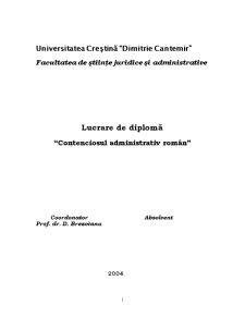 Contenciosul Administrativ Român - Pagina 1