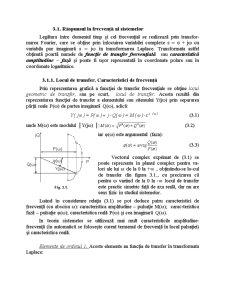 Răspunsul la Frecvență al Sistemelor - Pagina 1