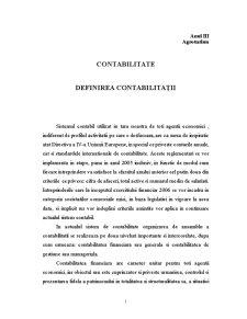 Definirea Contabilitații - Pagina 1