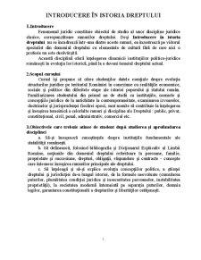 Introducerea în Istoria Dreptului - Pagina 1
