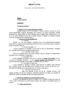 Drept Civil - Sinteza - Pagina 1
