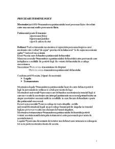 Dreptul la Mostenire - Curs 1 - Pagina 1