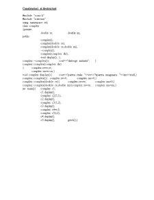 Clase, Clase Derivate, Constructori, Destructori - Programe POO - Pagina 1