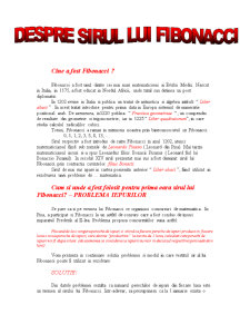 Despre Fibonacci - Pagina 1