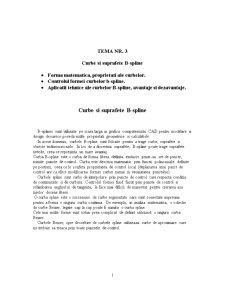Curbe si Suprafete B-spline - Pagina 1