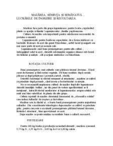 Mazarea, Seminta si Semanatul, Lucrarile de Ingrijire si Recoltarea - Pagina 1