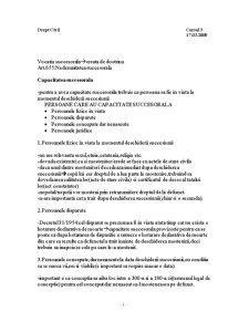 Dreptul la Mostenire - Curs 3 - Pagina 1