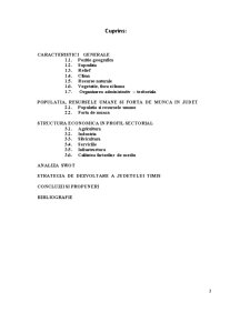Economia Agroalimentara si a Mediului - Pozitia Judetului Timis in Cadrul Regiunii 5 Vest - Pagina 2