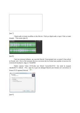 Proiect - Achizitia, Procesarea de Informatie Audio si Video pentru Transpunerea pe un Suport Optic