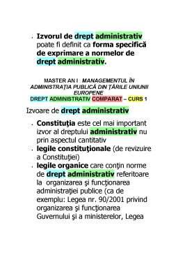 Curs - Drept Administrativ Comparat