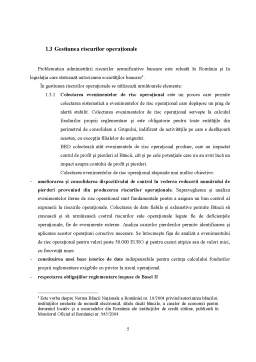 Proiect - Managementul Riscului Operational la BRD