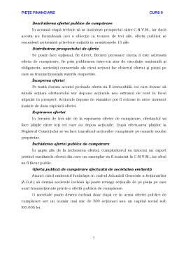 Curs - Piete Financiare - Curs 5