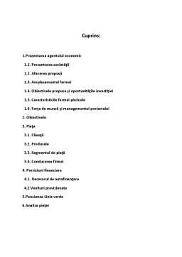 Proiect - Plan de Afaceri - Pastravarie