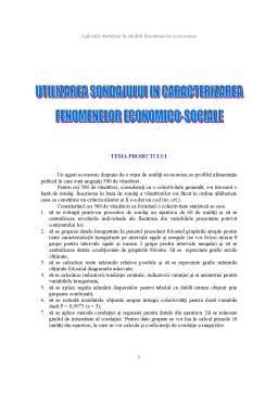 Proiect - Utilizare Sondajului în Caracterizarea Fenomenelor Economico-Sociale