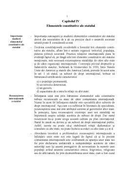 Curs - Elementele Constitutive ale Statului