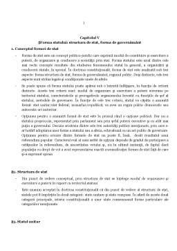 Curs - Forma Statului - Structura de Stat, Forma de Guvernamant