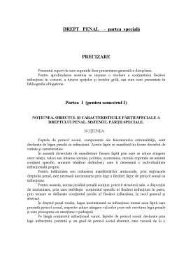 Curs - Drept Penal - Partea Specială