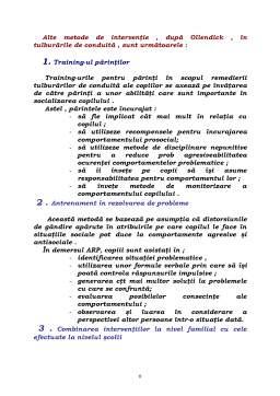 Referat - Tulburari de Comportament - Metode de Interventie