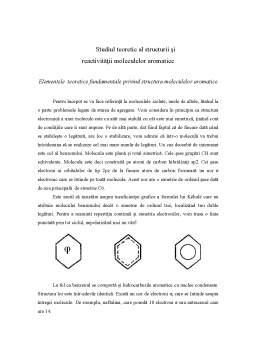 Proiect - Studiul Teoretic al Structurii și Reactivității Moleculelor Aromatice