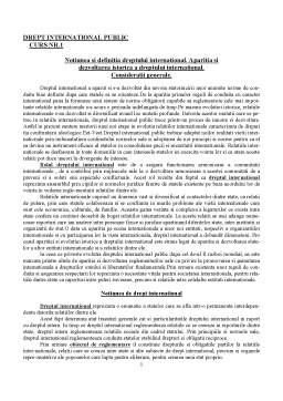 Curs - Drept International Public - Curs 1