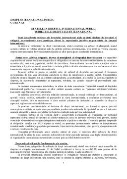 Curs - Drept International Public - Curs 6