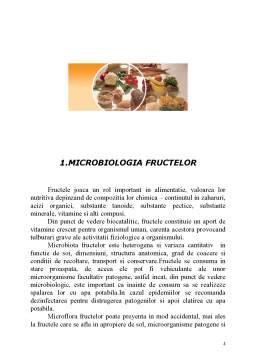 Referat - Microbiologia Fructelor și Condimentelor - Microorganisme de Alterare a Fructelor și Condimentelor