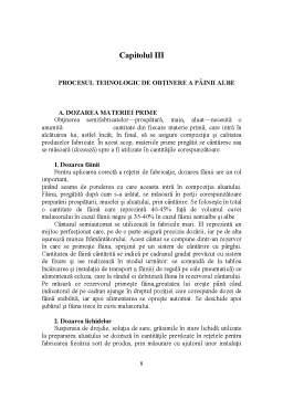 Proiect - Tehnologia de Fabricatie a Painii