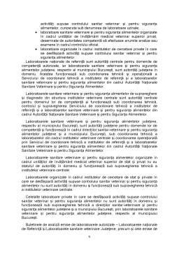 Curs - Condițiile Generale și Specifice pentru Autorizarea Laboratoarelor Supuse Controlului Sanitar Veterinar și pentru Siguranța Alimentelor