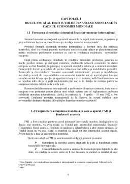 Proiect - Fondul Monetar Internațional și Relația cu România