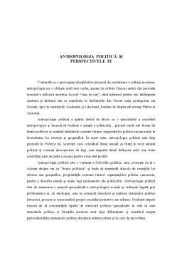 Referat - Perspective ale Antropologiei
