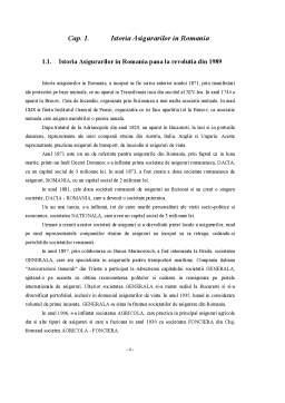 Referat - Istoria Asigurarilor in Romania, Europa si America