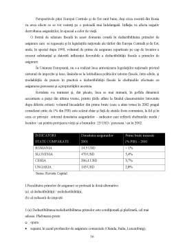 Referat - Asigurarile si Reasigurarile in Europa, Fiscalitatea Acestora
