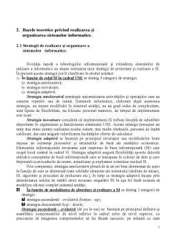 Curs - Bazele Teoretice privind Realizarea și Organizarea Sistemelor Informatice