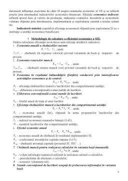 Curs - Eficienta Economica a Sistemelor Informatice Economice (SIE)
