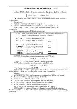 Curs - Limbajul HTML